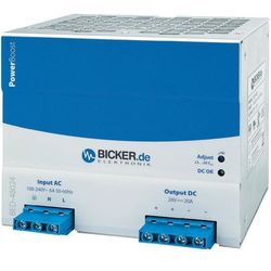 Zasilacz na szynę DIN Bicker Elektronik BED-48024 24 V/DC 20 A 480 W 1 x - sprawdź w wybranym sklepie