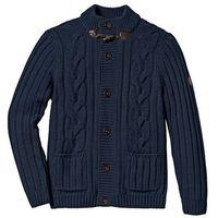 Sweter rozpinany w warkocze Regular Fit bonprix ciemnoniebieski