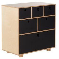 Durbas-style Durbas style drewniana komoda wysoka 80 x 45 czarna