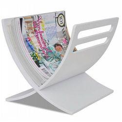 Drewniany stojak na gazety varis 2x - biały marki Producent: elior