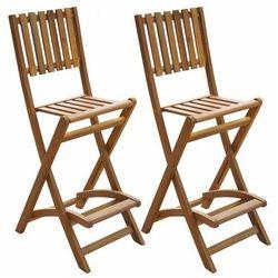 Zestaw drewnianych krzeseł ogrodowych - Aliya