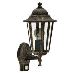 Rabalux Zewnętrzna lampa ścienna velence 8218 ip43 kinkiet oprawa elewacyjna vintage outdoor z czujnikiem ruchu złoto antyczne (5998250382180)