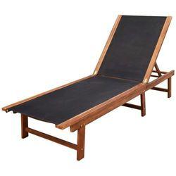 Vidaxl leżak z drewna akacjowego