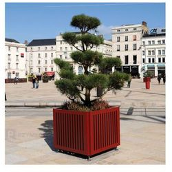 Donica miejska Silaos na drzewka, stalowa - 80x80 cm