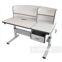Creare grey - regulowane biurko dziecięce marki Fundesk