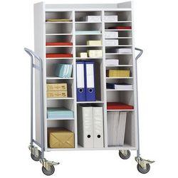 Unbekannt Wózek biurowy, na pocztę, nośność 150 kg, dł. x szer. x wys. 950x455x1380 mm. no