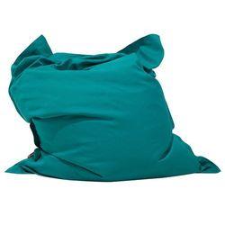 Beliani Pufa do siedzenia z powłoczką wewnętrzną 140 x 180 cm turkusowa