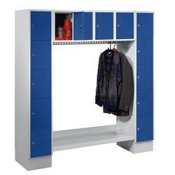 Garderoba systemowa, otwarta,wys. x szer. całk.: 1850 x 1800 mm, 14 półek