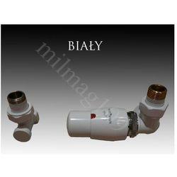 Mera term Zestaw zaworów grzejnikowych termostatycznych master prawy biały