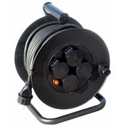 Solight Przedłużacz bębnowy 25m czarny