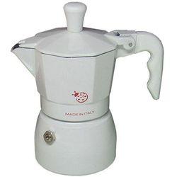 Kawiarka Top Moka Coccinella biała - 1 filiżanka z kategorii Zaparzacze i kawiarki