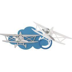 Plafon oprawa lampa sufitowa Nowodvorski Plane do pokoju dziecięcego samoloty 2x35W GU10 niebieski 6903
