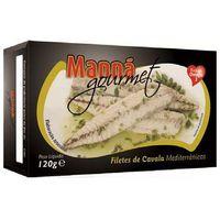 Manná gourmet Portugalskie filety z makreli atlantyckiej w oliwie z oregano 120g