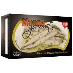 Portugalskie filety z makreli atlantyckiej w oliwie z oregano 120g Manná GOURMET (przetwór rybny)