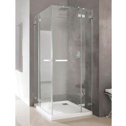 Radaway Radaway euphoria kdd kabina prysznicowa 100x100 szkło przejrzyste + brodzik delos c + syfon 383062-01l/383062-01r/sdc1010-01 __autoryzowany_dystrybutor__ 100 x 80 (383062-01L)