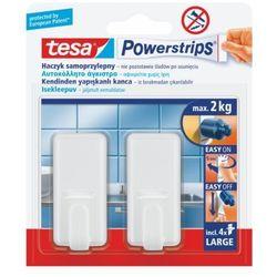 haczyk pojedynczy powerstrips duży biały 2 sztuki marki Tesa