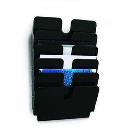 FLEXIPLUS A4 6 poziomych pojemników na dokumenty, kolor czarny DURABLE, 1700014061_d