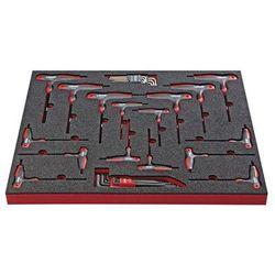 Vigor Zestaw narzędzi turn, wkrętak z uchwytem t, 32-częściowy, we wkładce z twardej p