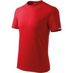 Koszulka męska DEDRA T-shirt czerwona M (BH5TC-M)
