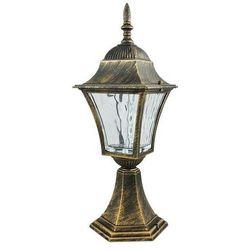 Zewnętrzna lampa stojąca london 302328 metalowa oprawa klasyczna ogrodowa led 6w ip43 outdoor latarnia patyn