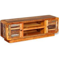 Szafka pod TV z drewna z odzysku 120x30x40 cm