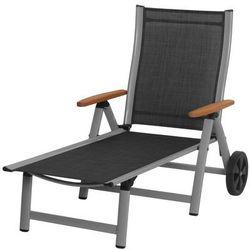Rojaplast leżak ass comfort czarno-srebrny (4047952064786)