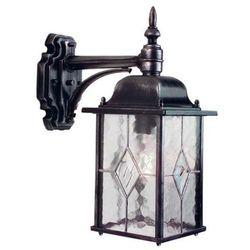 Zewnętrzna LAMPA ścienna WEXFORD WX2 Elstead KINKIET metalowy OPRAWA ogrodowa IP43 outdoor srebrna