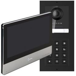 Vidos Zestaw wideodomofonu ip podtynkowy z szyfratorem monitor 7''