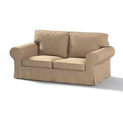Dekoria Pokrowiec na sofę Ektorp 2-osobową, nierozkładaną, oliwkowo-beżowe pasy, Sofa Ektorp 2-osobowa, Living