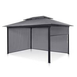 Blumfeldt grandezza cortina, pawilon ogrodowy, 3 x 4 m, 4 części boczne, ciemnoszary