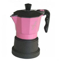 Kawiarka  top 3 filiżanki - czarno różowa marki Top moka