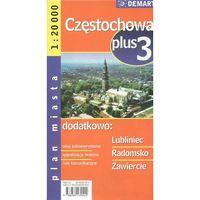 Plan miasta. Częstochowa, Lublin, Radomsko, Zawiercie 1:20 000. Plus3, oprawa broszurowa