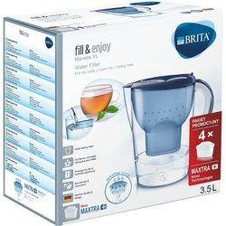 Dzbanek BRITA Marella XL niebieski + 4 wkłady Maxtra+