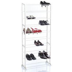 Stojak na buty, obuwie, 10 poziomów, 30 par, biały kolor