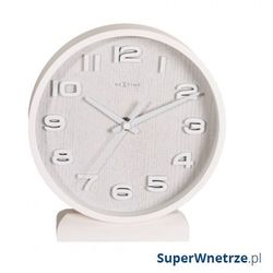 Zegar stojący 20 cm wood wood small biały marki Nextime