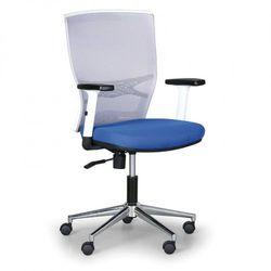 Krzesło biurowe haag, szare/niebieske marki B2b partner