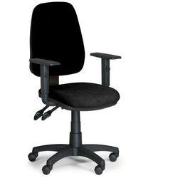 Krzesło biurowe ALEX z podłokietnikami - czarny