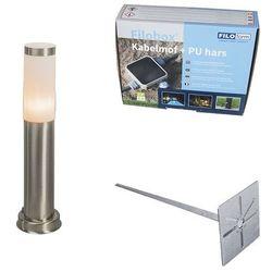Lampa zewnętrzna stal 45cm IP44 z klinem i mufą kablową - Rox