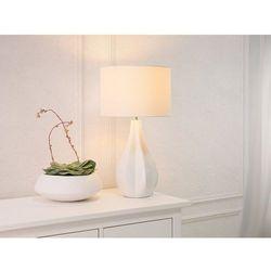 Nowoczesna lampka nocna - lampa stojąca w kolorze białym - SANTEE