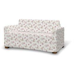Dekoria Pokrowiec na sofę Solsta, fioletowo-różowe kwiaty na kremowym tle, sofa Solsta, Mirella