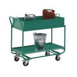Eurokraft Wózek stołowy, z wanną, zdejmowaną, turkusowo-zielony. z olejo- i wodoszczelnym