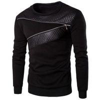 Splicing Zipper Design Sweatshirt For Men