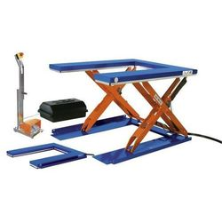 Płaski stół podnośny, dł. x szer. 1450x1085 mm, zakres podnoszenia do 800 mm, pl marki Edmolift hebetechnik