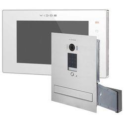 Wideodomofon skrzynka na listy z szyfratorem s1401d-skm m1021w-2 marki Vidos