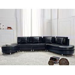 Sofa czarna skórzana COPENHAGEN - produkt dostępny w Beliani