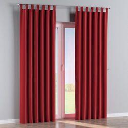 Dekoria Zasłona na szelkach 1 szt., intensywna czerwień, 1szt 130 × 260 cm, Velvet