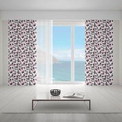 Zasłona okienna na wymiar - GRUNGE BUTTERFLIES III
