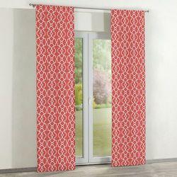 Dekoria Zasłony panelowe 2 szt., czerwony w biały marokański wzór, 60 × 260 cm, Gardenia