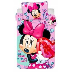 Jerry fabrics dziecięca pościel minnie różowy