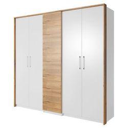 Form szafa biała / dąb Grandson 5 drzwi